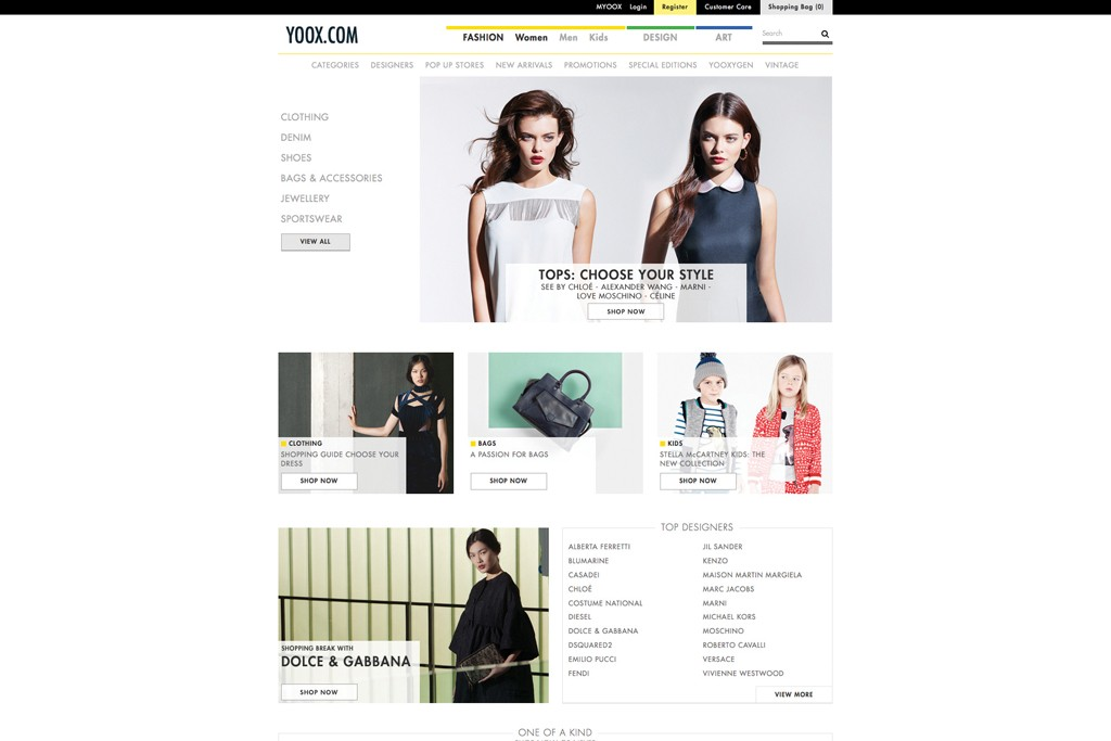 Yoox.com, launched in 2000, was a pioneer in selling overstock merchandise online.