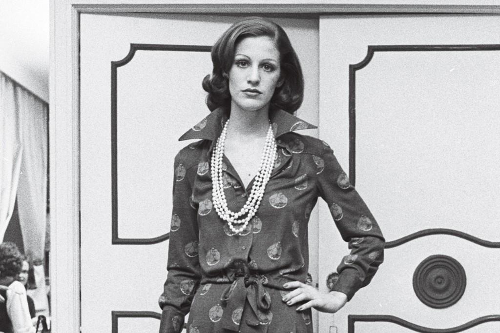 A Diane von Furstenberg look from Fall 1973.