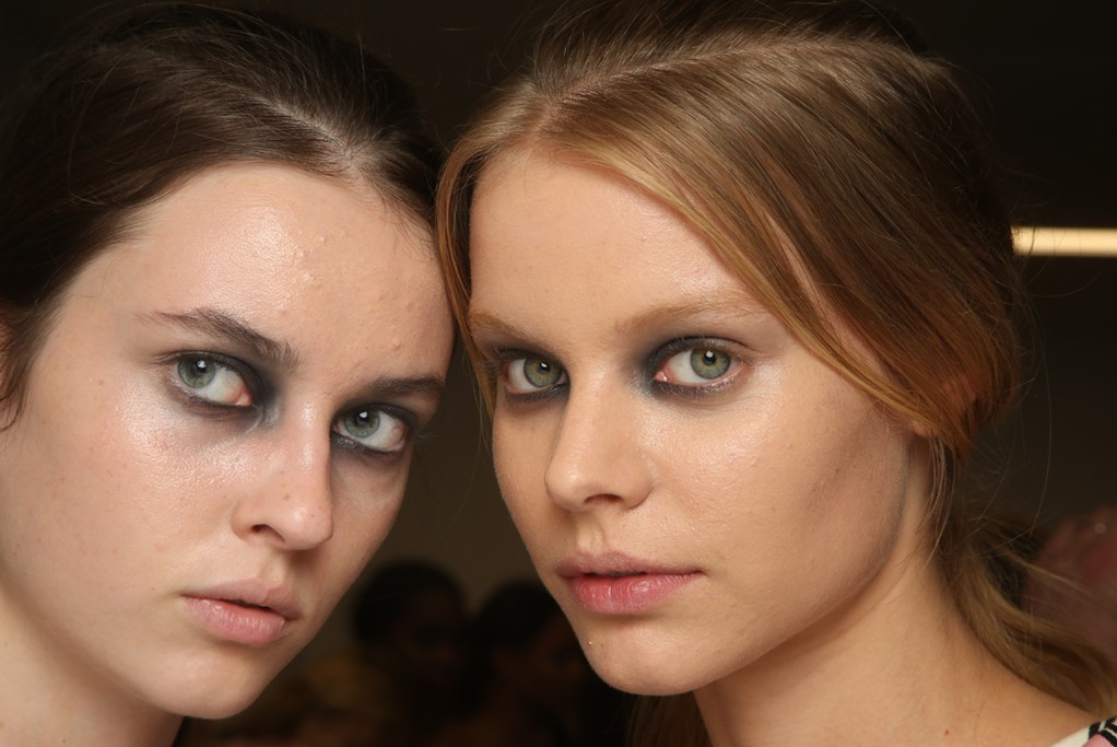 Backstage at Giles RTW Spring 2015