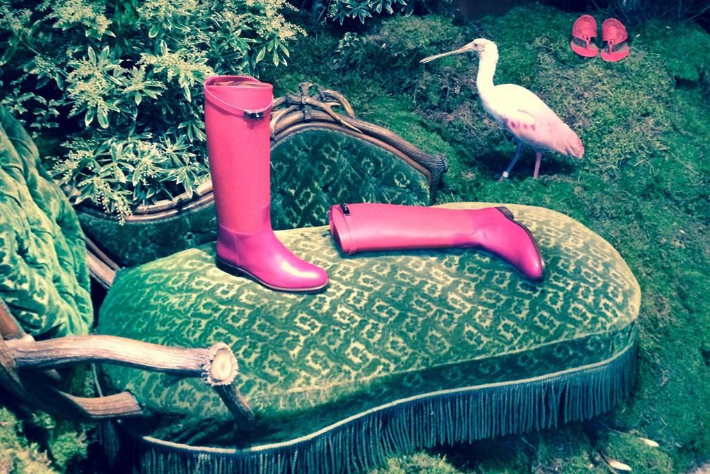 Hermès Shoe presentation.