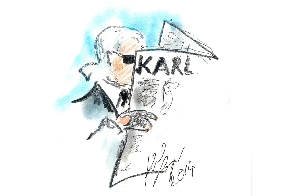 """""""Those social networks, there's something sad about them. ... It's like a talkative mirror where people talk to themselves."""" -- Karl Lagerfeld"""