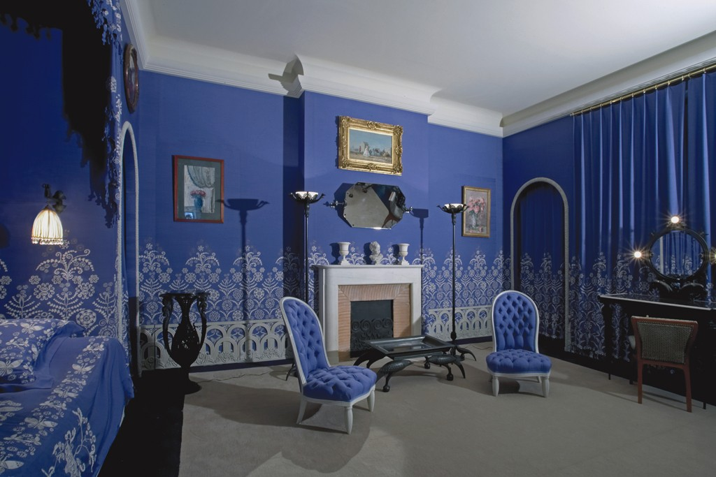 The bedroom in Jeanne Lanvin's apartment.