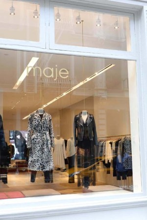 Maje's 2,000-square-foot store at 114 Spring Street in New York.