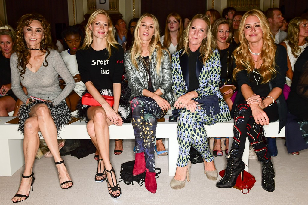 Marie Helvin, Poppy Delevingne, Mary Charteris, Alice Naylor-Leyland and Cat Deeley.