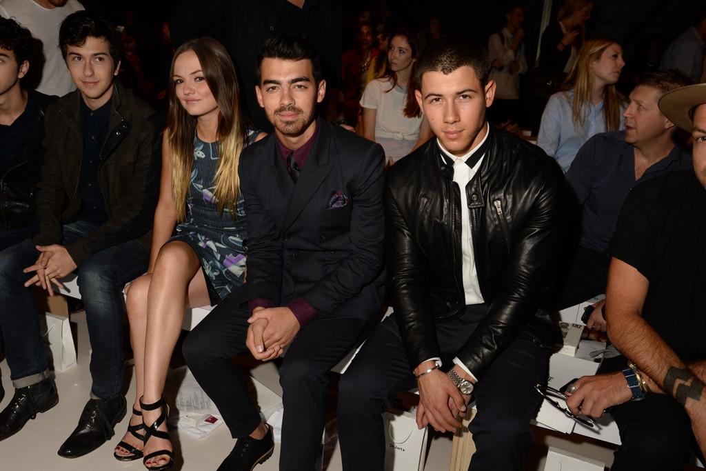 Emily Meade, Joe and Nick Jonas.