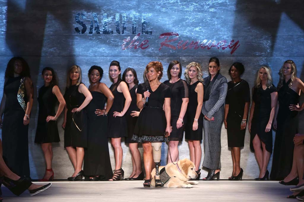 """The """"Salute the Runway"""" fashion show."""