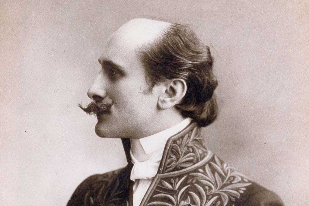Edmond Rostand in a ceremonial suit Lanvin made for him, 1901.