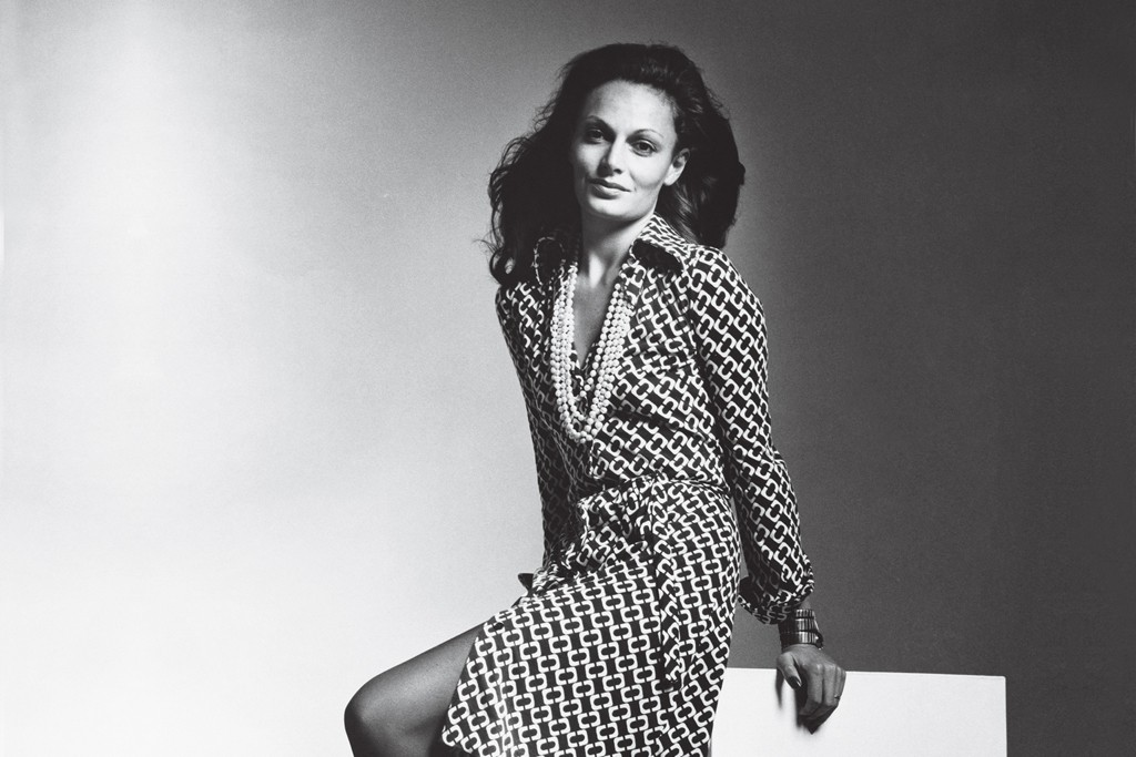 Diane von Furstenberg featured in an early ad.