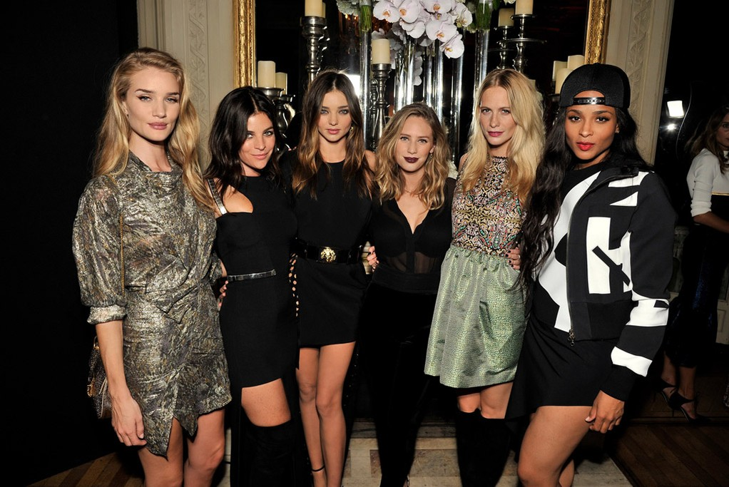 Rosie Huntington Whiteley, Julia Restoin Roitfeld, Miranda Kerr, Dylan Penn, Poppy Delevingne and Ciara