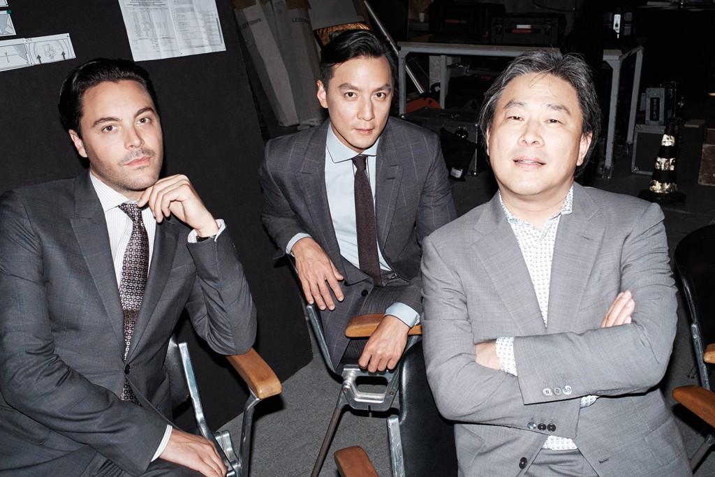 Jack Huston, Daniel Wu and Chan-wook Park.