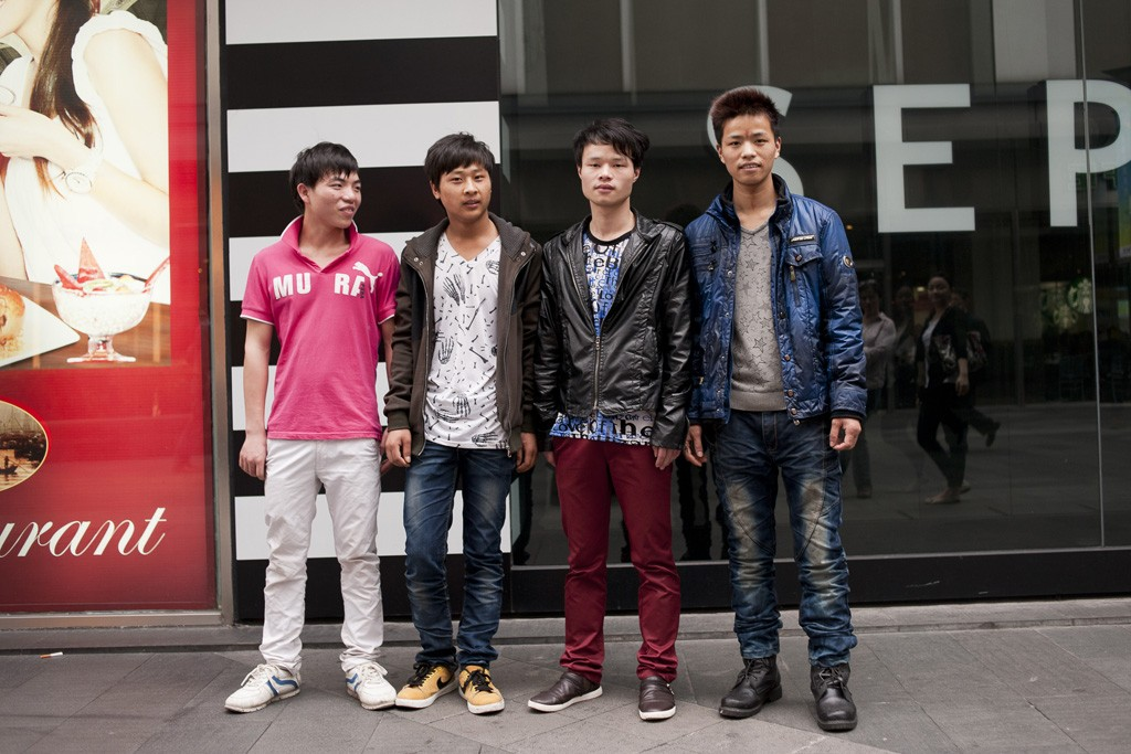 Youth in Shanghai make a statement, with their jeans.