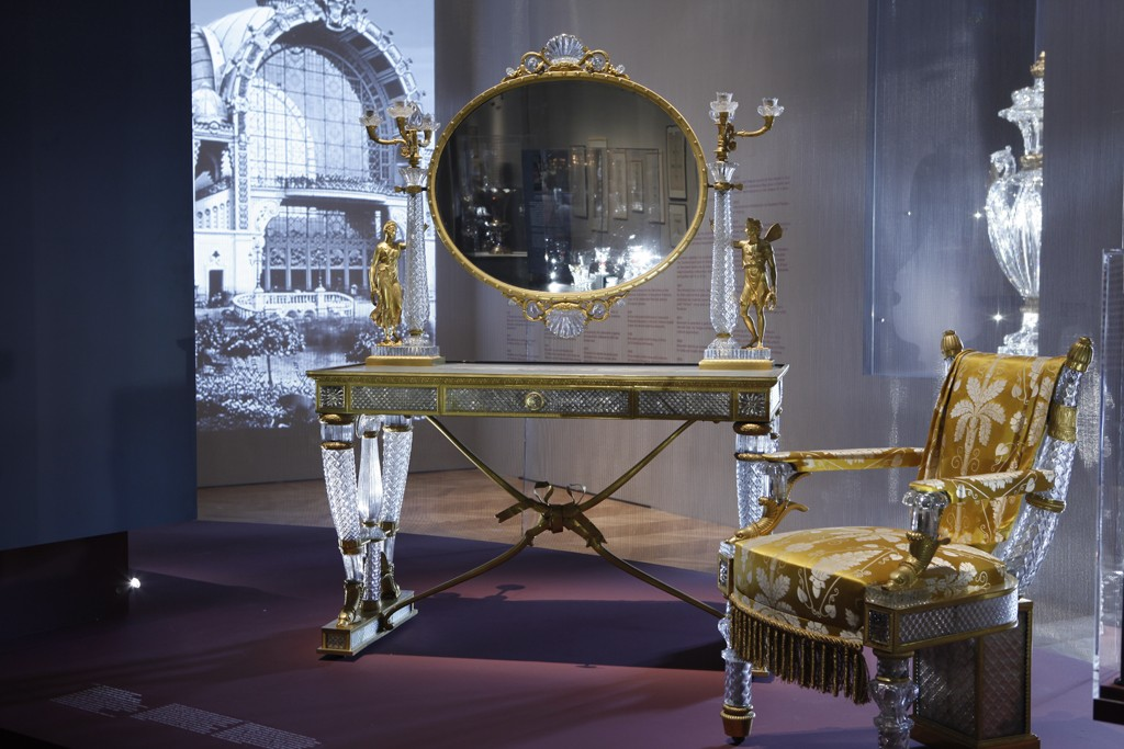 A vanity table made for the Duchesse de Berry is on loan from the Louvre.
