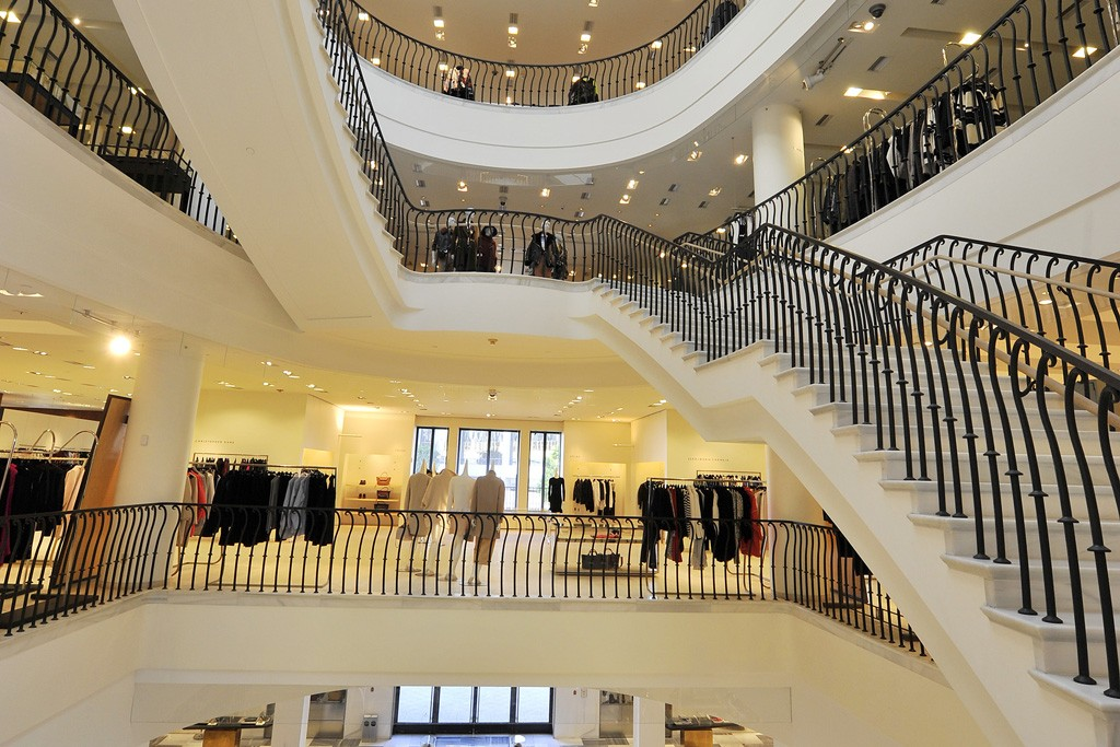 The renovated Beverly Hills flagship.