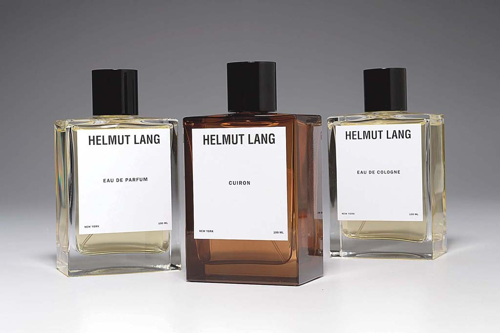 Helmut Lang's fragrance collection.
