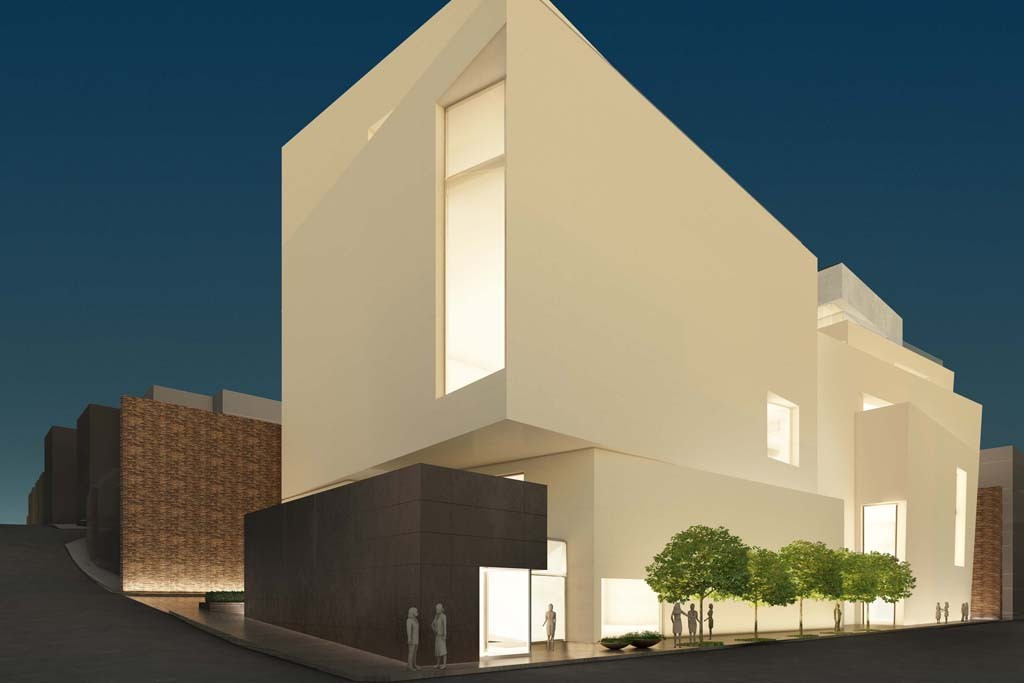 A rendering of the Boontheshop flagship in Seoul, South Korea, designed by Peter Marino.