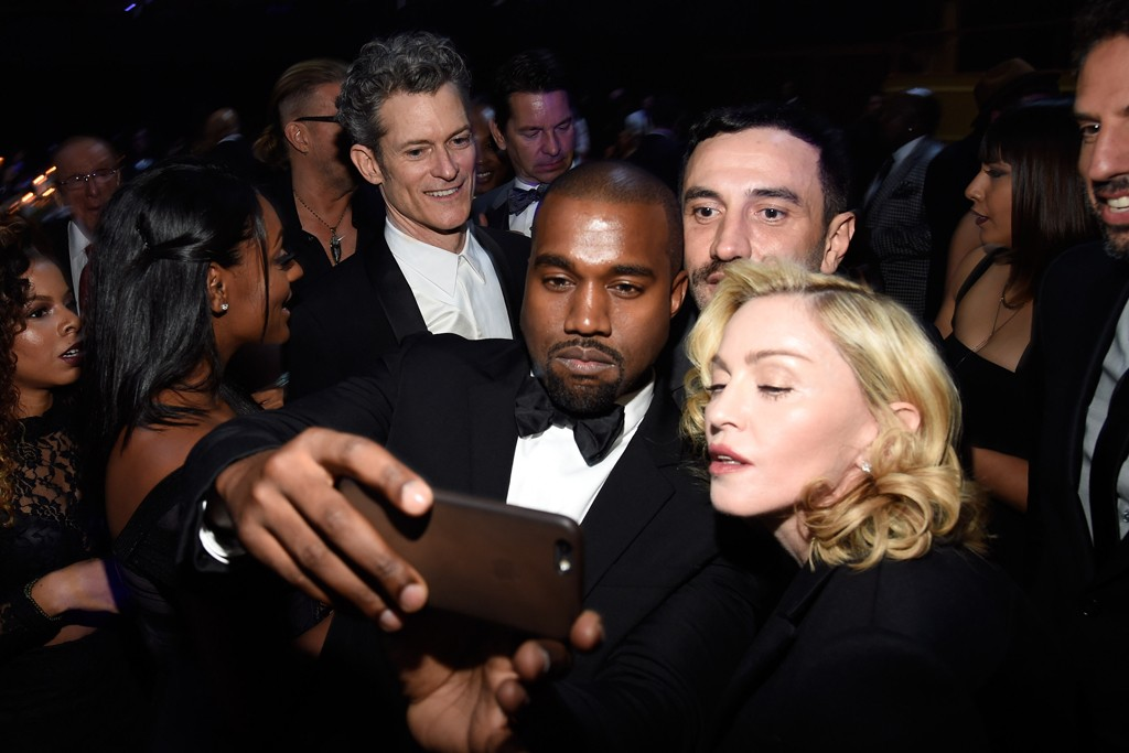 Kanye West and Madonna in Givenchy with Riccardo Tisci.