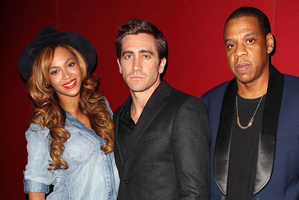 Beyonce, Jake Gyllenhaal and Jay-Z.