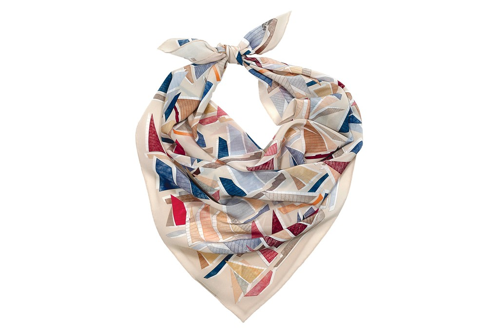 A SuTurno sailboat silk scarf.
