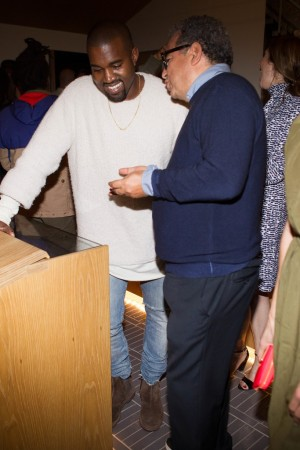 Kanye West and Jean Touitou