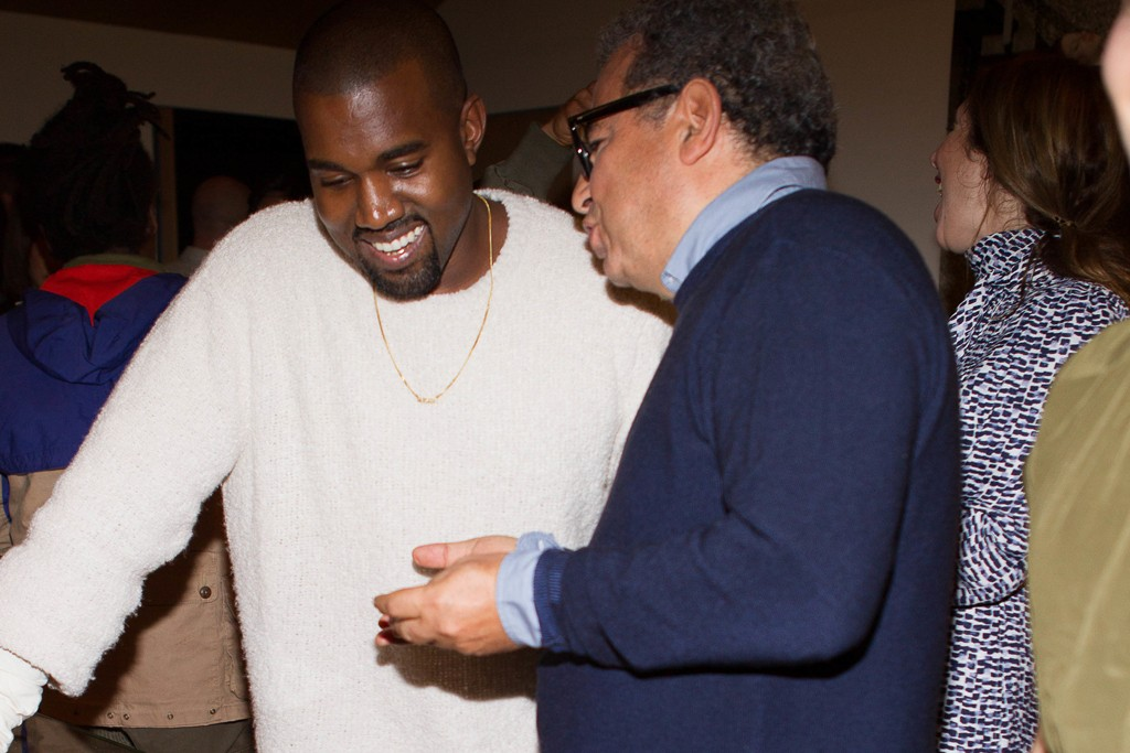 Kanye West and Jean Touitou