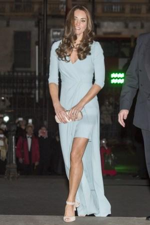 The Duchess of Cambridge in Jenny Packham.