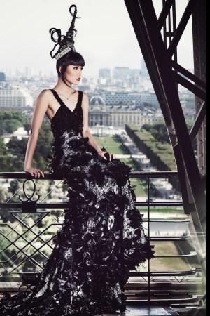 Jessica Minh Anh in a Dar Naseem AlAndalos dress.