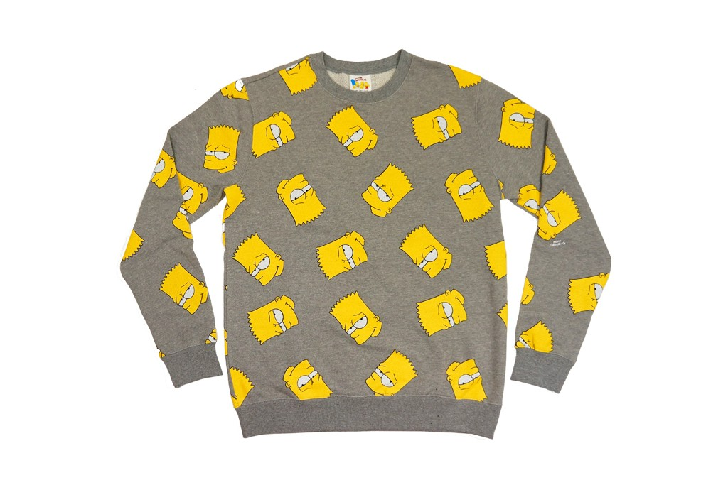 Bart Simpson's mug on a printed sweater from Forever 21's Simpsons collection.