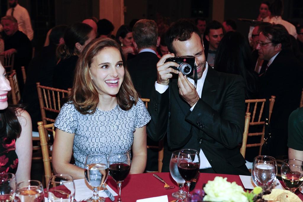 Natalie Portman in Dior and Benjamin Millepied in Yves Saint Laurent.