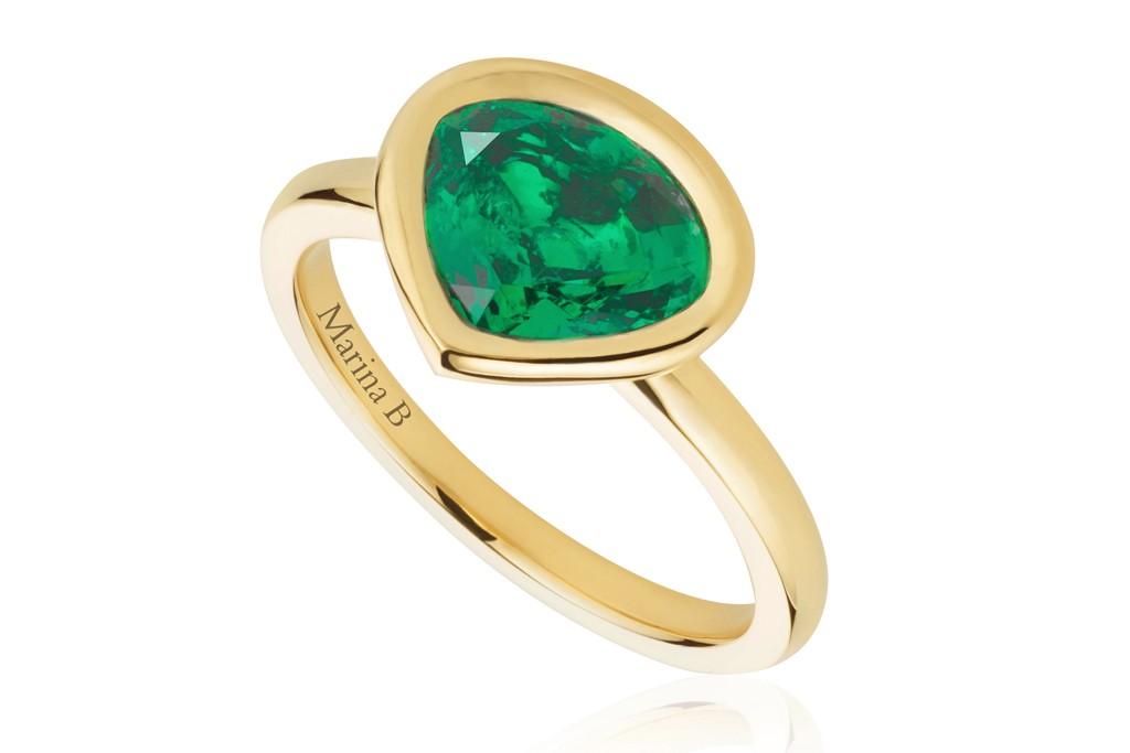 "Gemfields and Marina B's ""Mila"" ring"