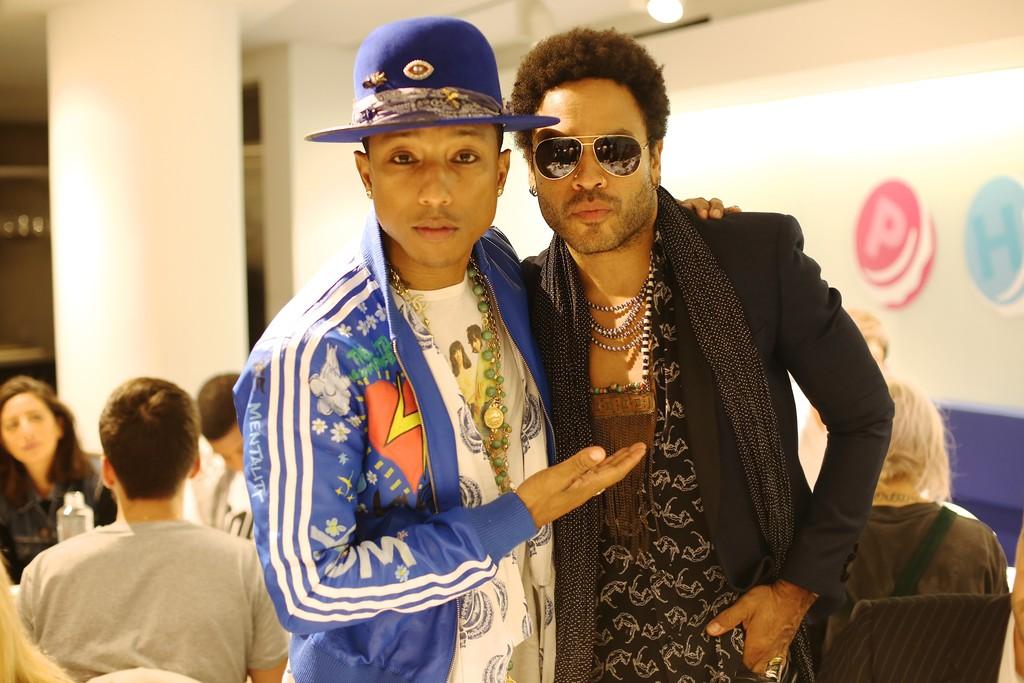 Pharrell Williams and Lenny Kravitz