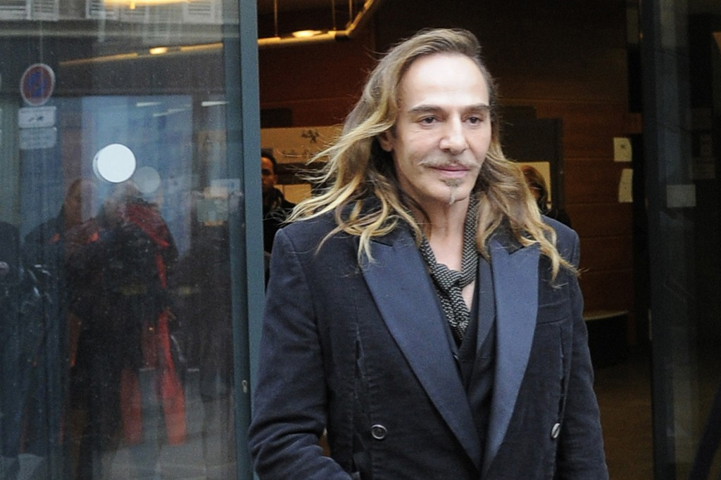 John Galliano leaving a Paris court.