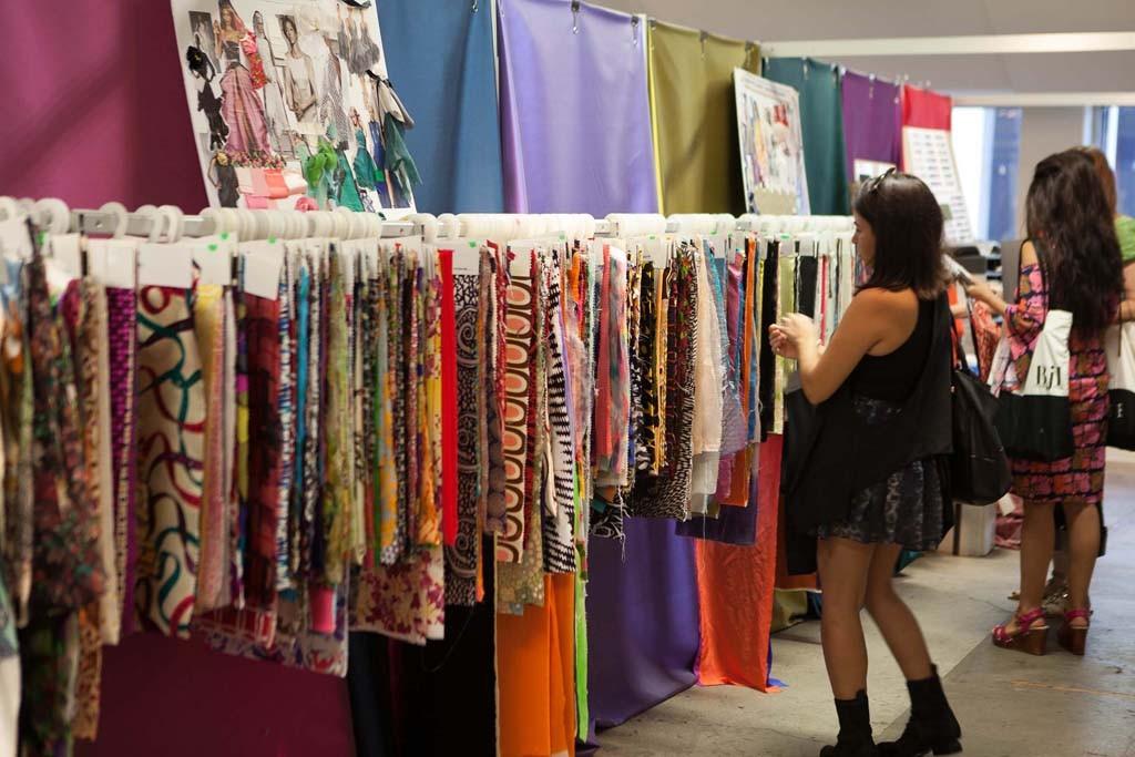 Inside the L.A. International Textile Show.