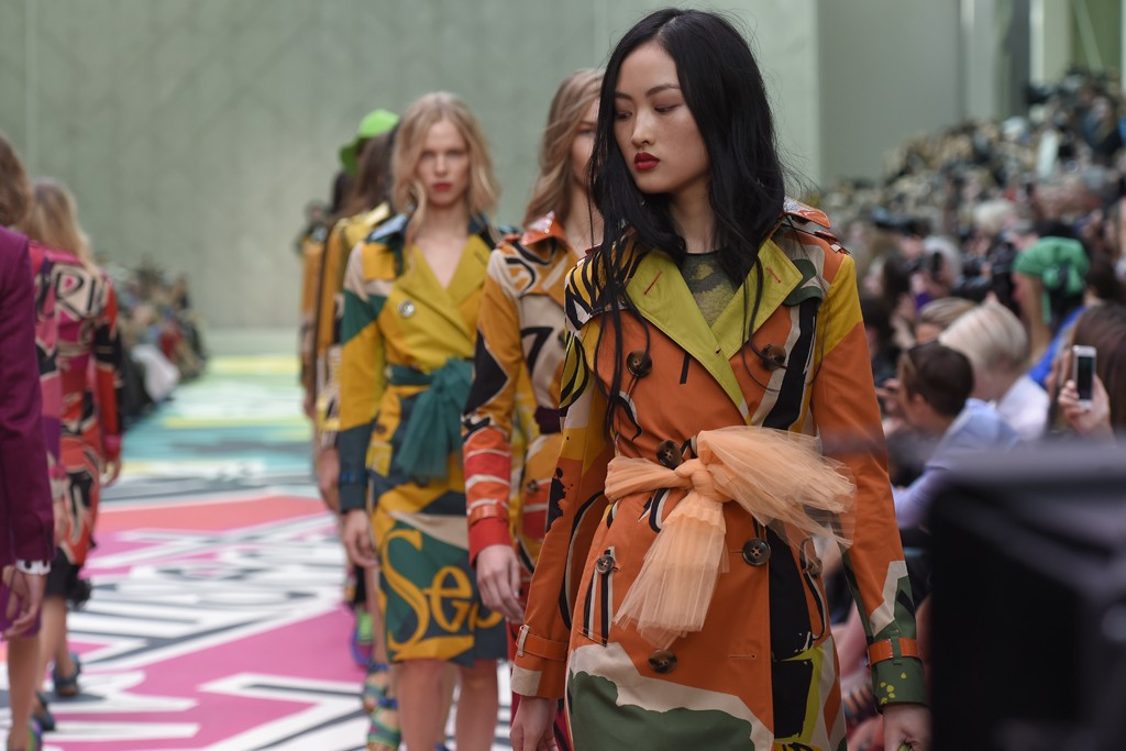 Despite strong growth in the first half, Burberry warned of difficulties ahead.