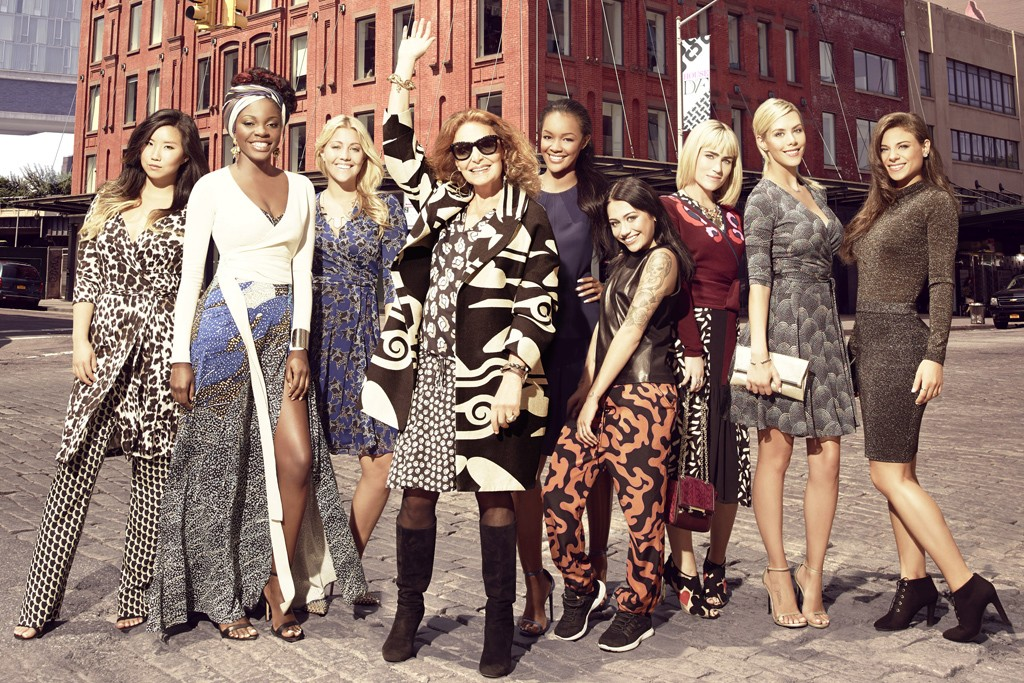 "The cast of Diane von Furstenberg's E show, ""House of DVF."""