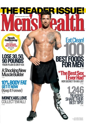 The November cover of Men's Health featuring Noah Galloway