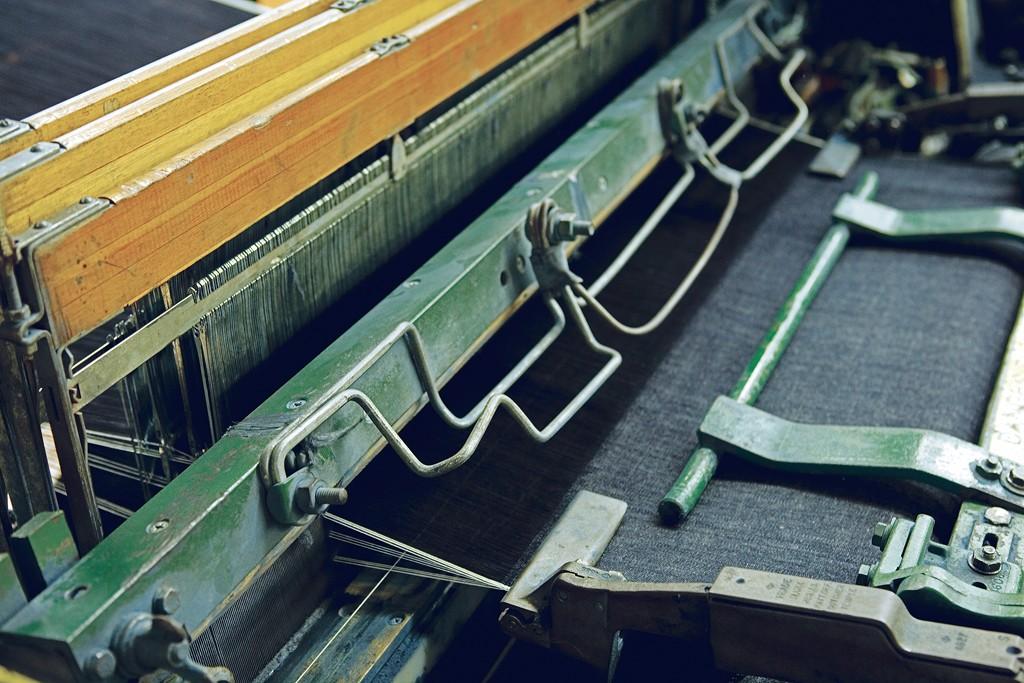 An American Draper X3 loom at Cone Denim's White Oak Mill.