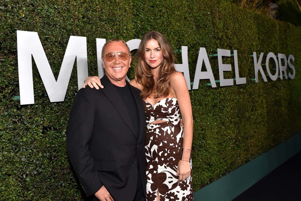 Claiborne Swanson Frank in Michael Kors with the designer.