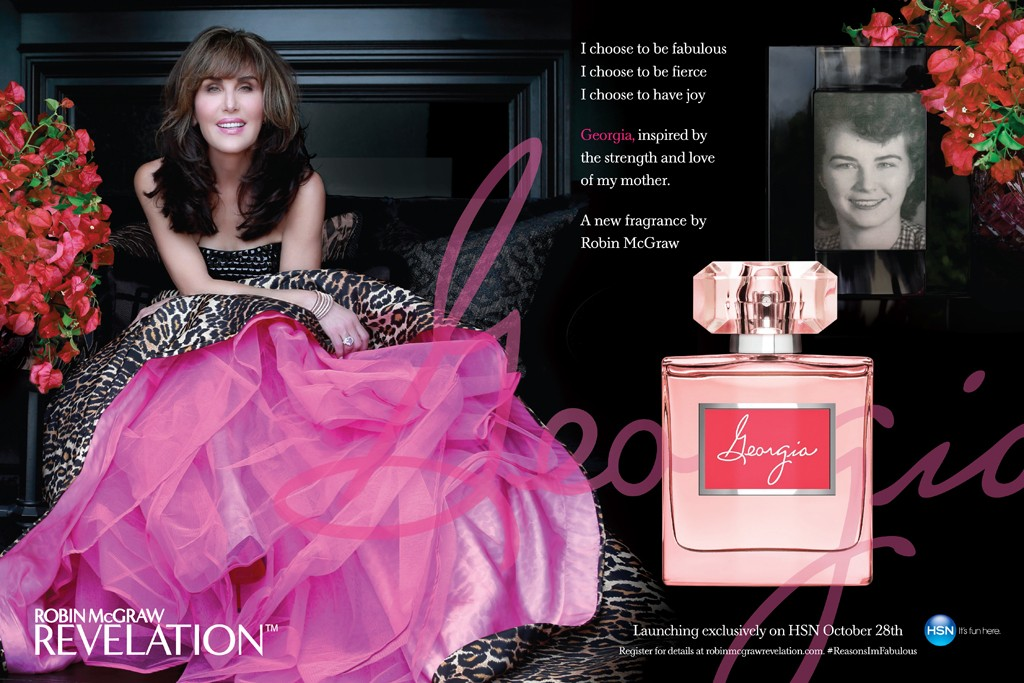 An advertisement for Georgia by Robin McGraw.