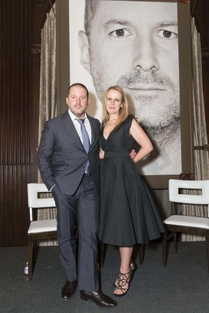 Jony Ive in Thomas Mahon with Heather Ive in Lanvin.
