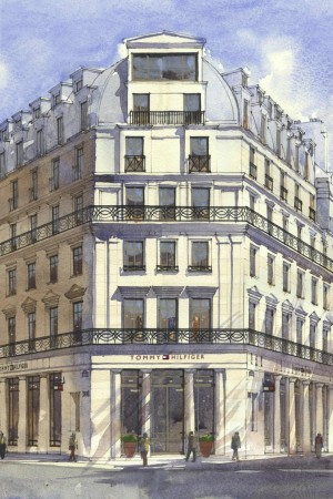 A rendering of the future Tommy Hilfiger store in Paris.