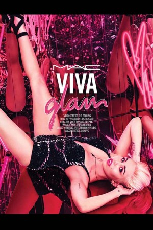 The Viva Glam Miley Cyrus ad campaign.