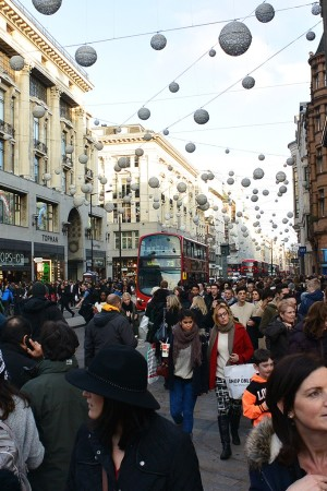 The Black Friday shopping scene in London