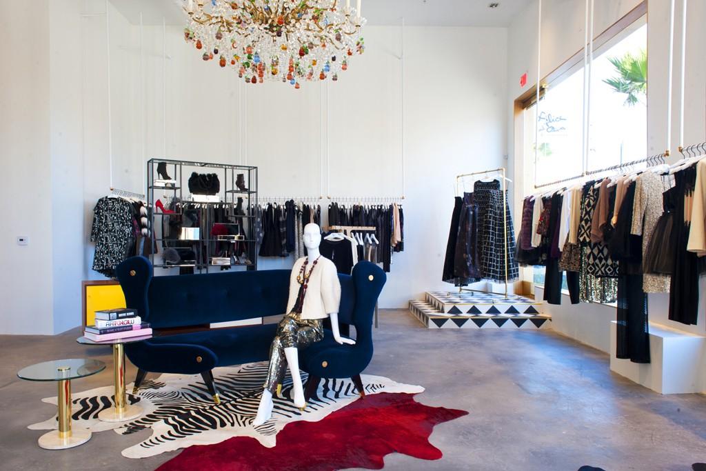 Alice + Olivia's new Melrose Avenue store.