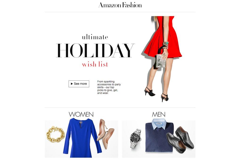 Amazon Fashion's homepage.