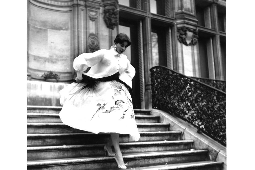 Bettina wearing Hubert de Givenchy, Paris, Paris Match, 1952