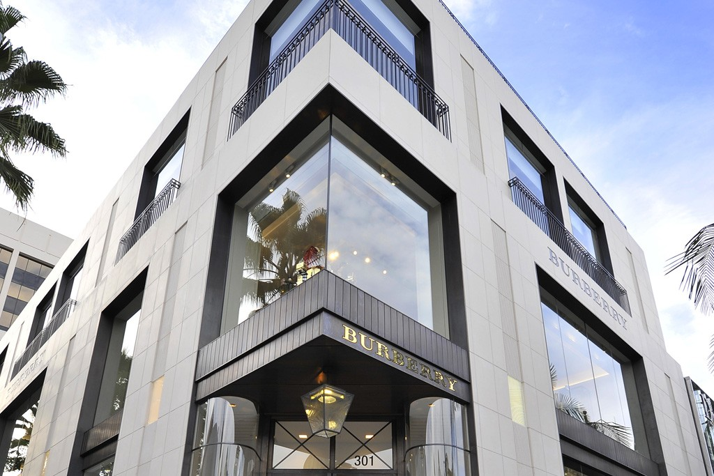 A view of the Burberry store.