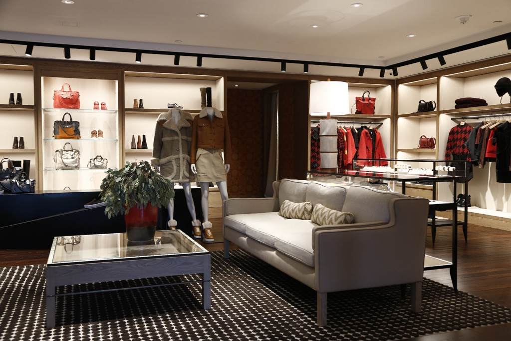 A view of Coach's new retail concept inside the Time Warner Center store.