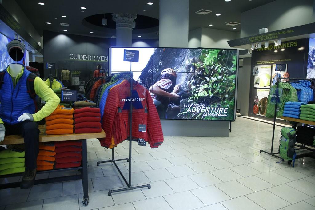 The Eddie Bauer store in New York.