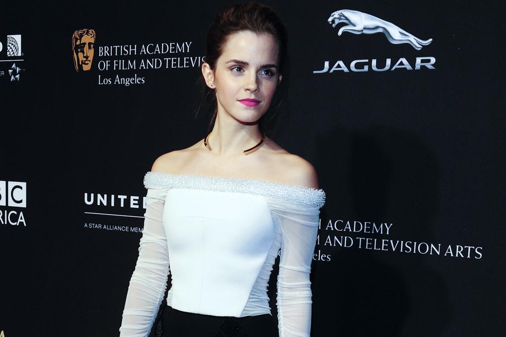 Emma Watson in Balenciaga.