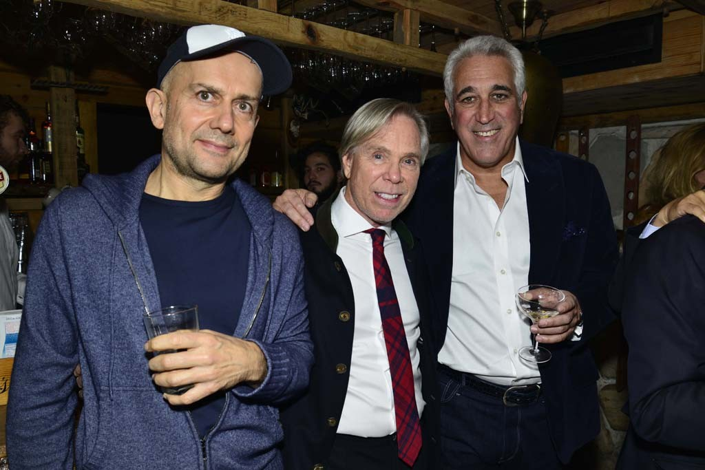 Marc Quinn, Tommy Hilfiger and Lawrence Stroll.